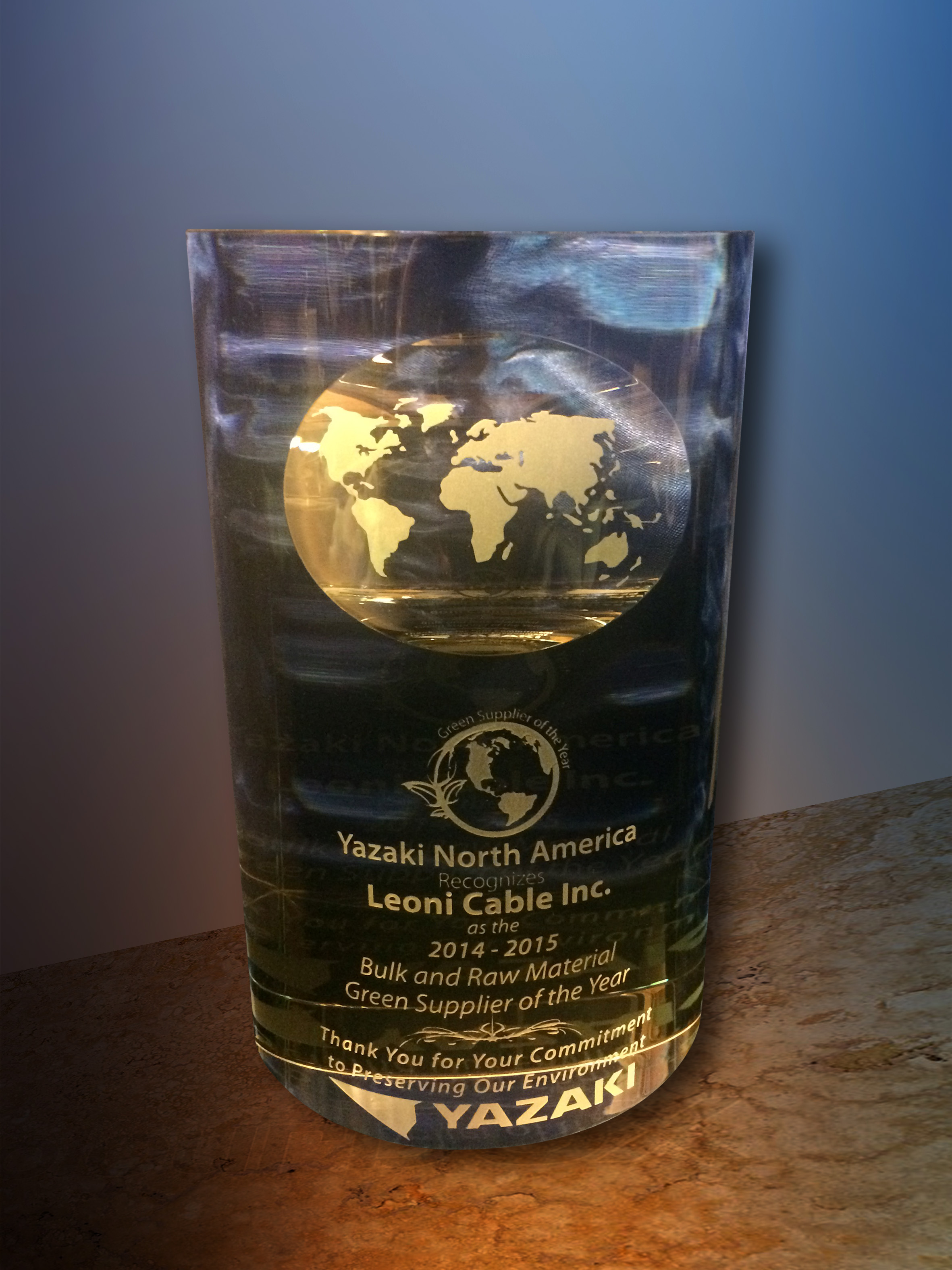 Leoni Cable Inc. Titled As 'Green Supplier Of The Year' By Yazaki
