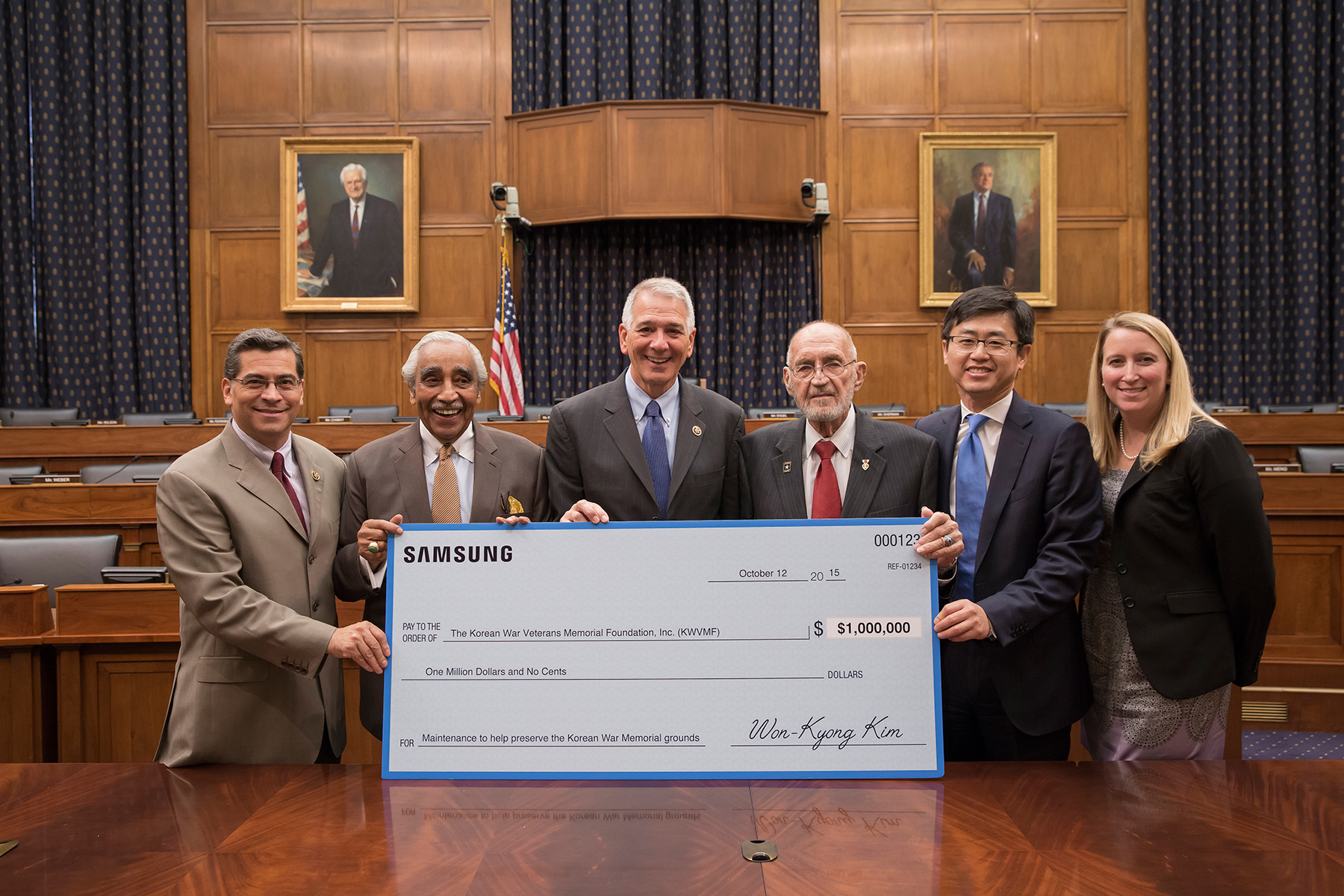 'Korean War Veterans Memorial Foundation's Memorial Fund' Has Received Donation From Samsung Electronics For Its Maintenance