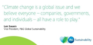 P&G To Reduce Harmful Emissions By Thirty Percent