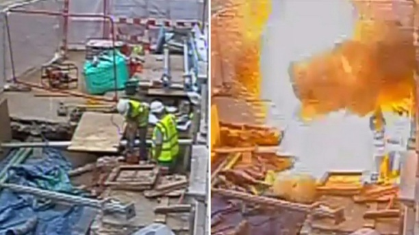 Workers Accidentally Cut Into Electric Cable