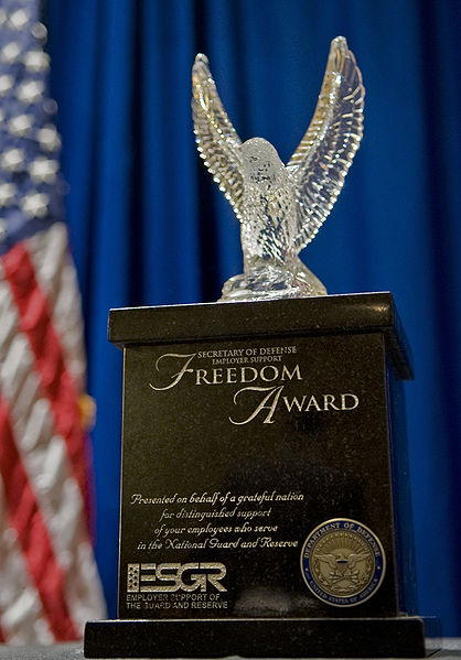 Chevron Becomes A Recipient Of Freedom Award
