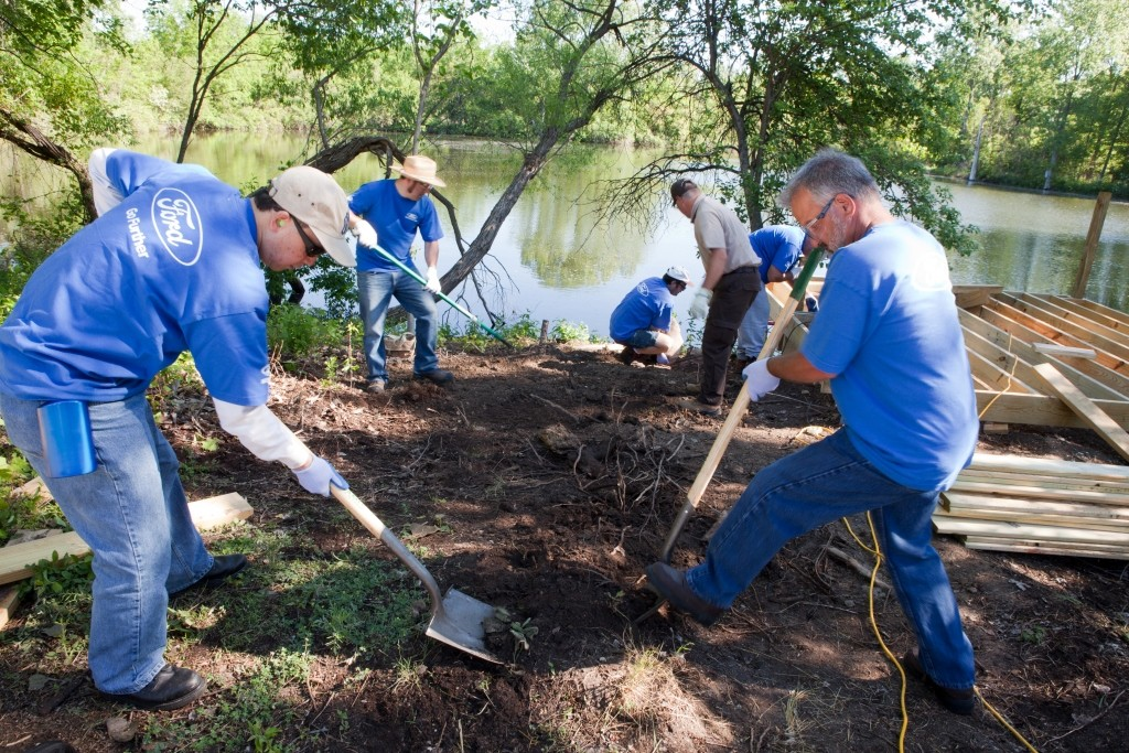 Ford Volunteers Corps and with employees come together to further environmental causes.