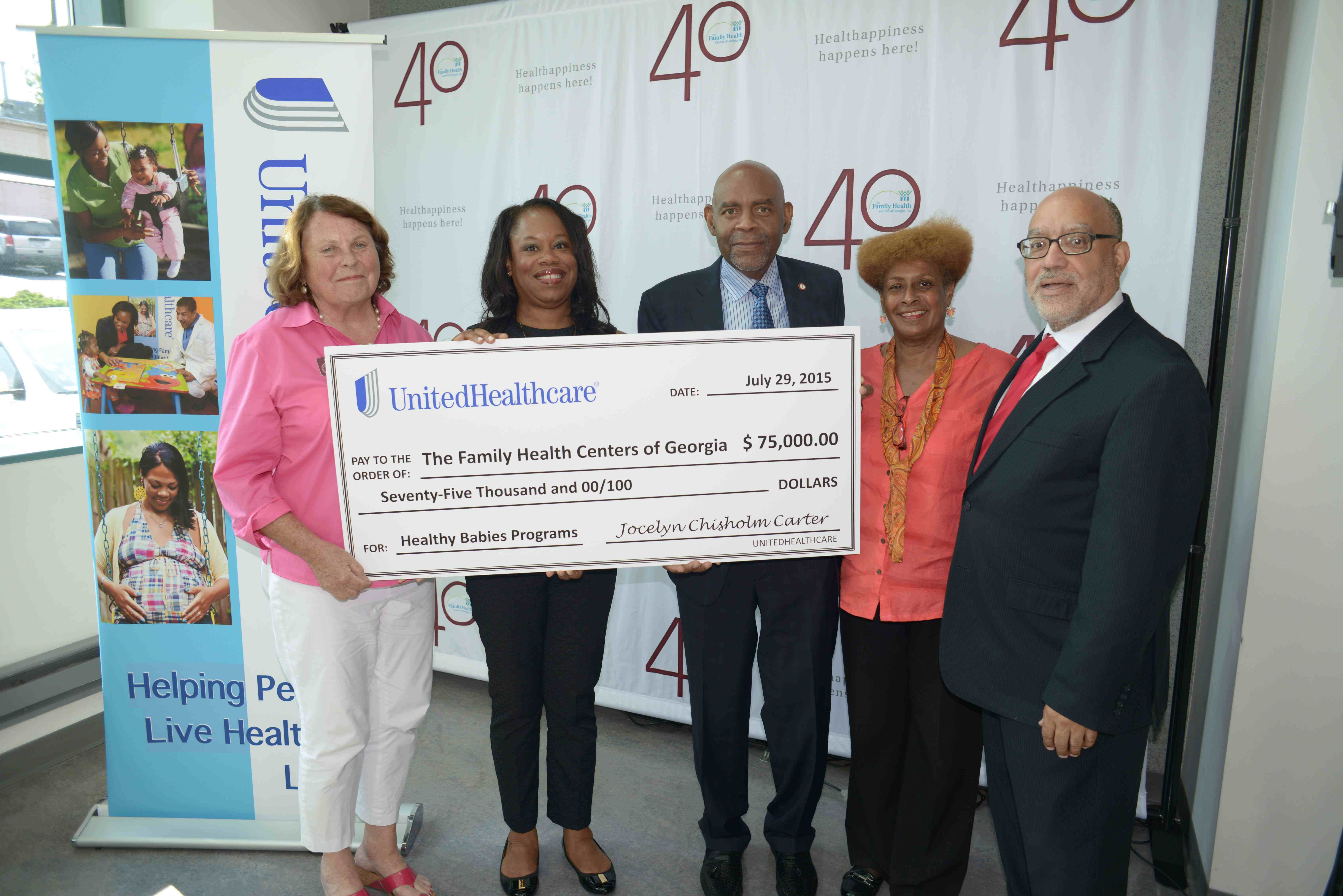 UnitedHealthCare grants $75,000 to Gerogia's Family Health Care Centre